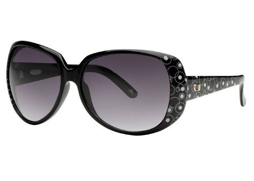 Angel Grace Sunglasses - Women's Black Deco/smoke Gradient, One Size