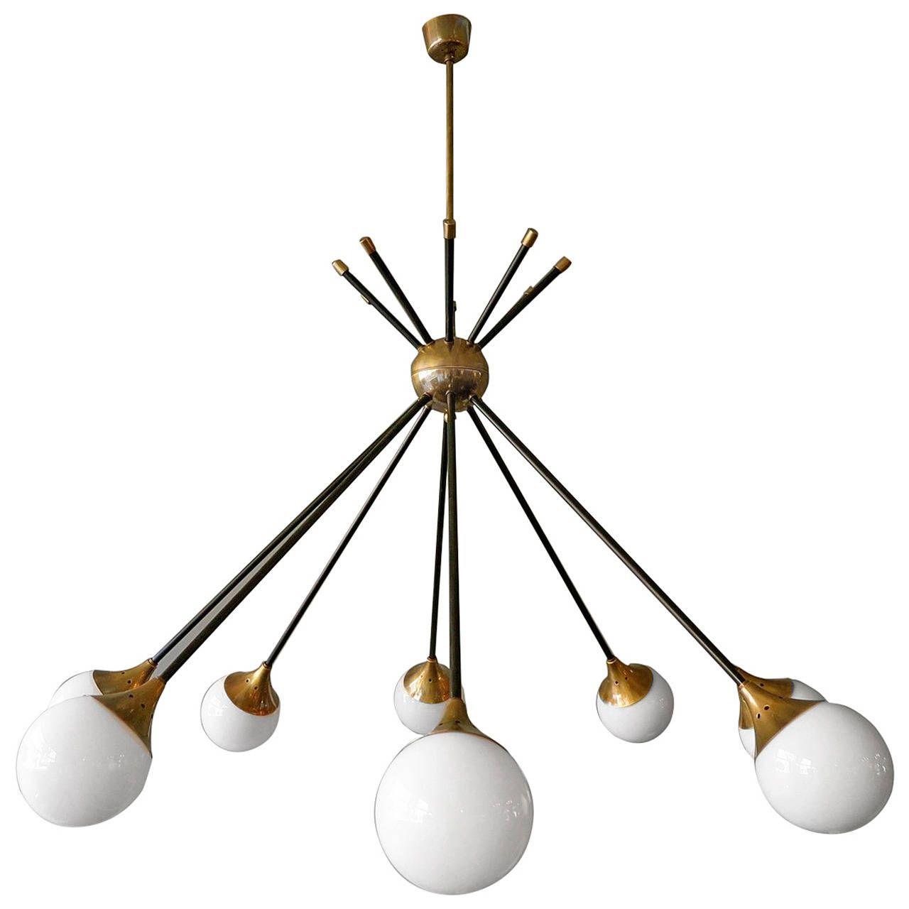 Italian Stilnovo Sputnik Chandelier