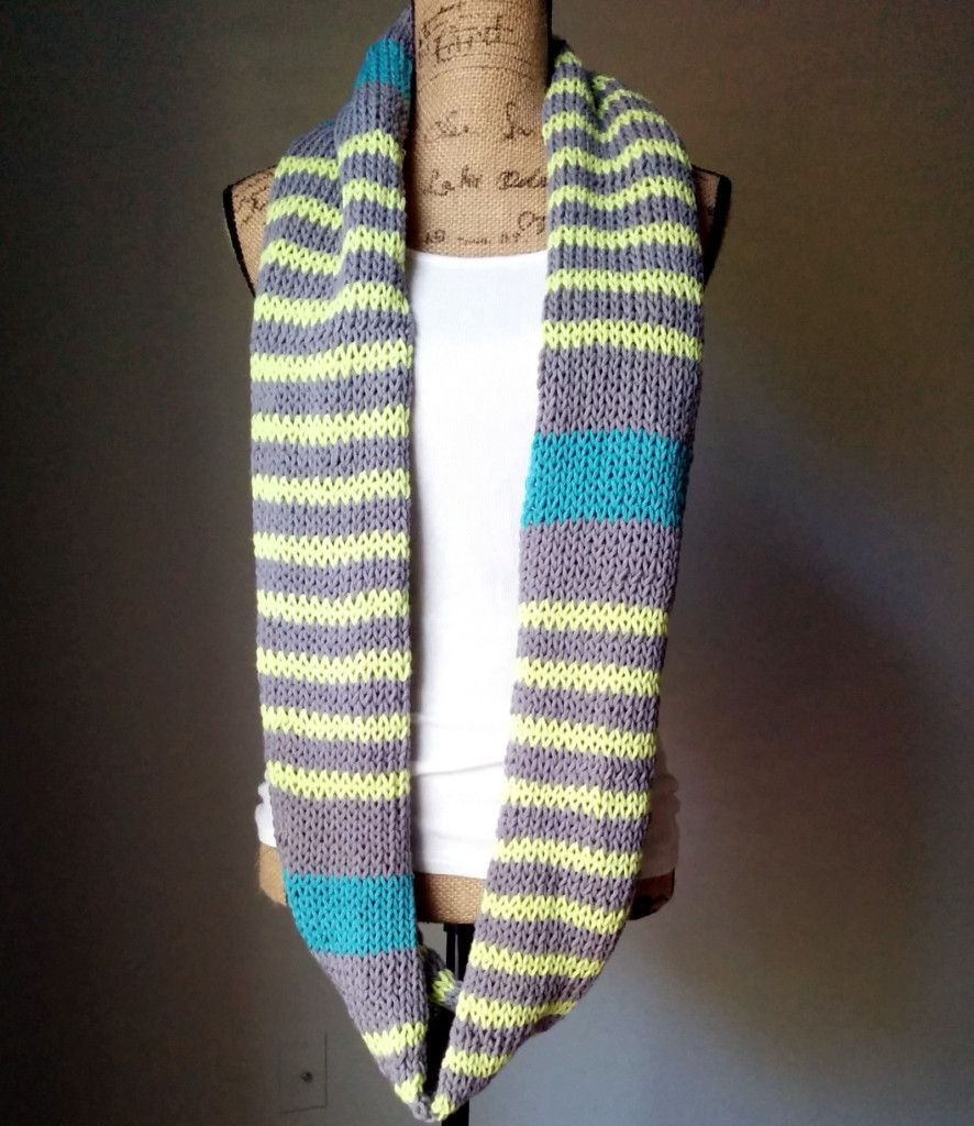 Neon Stripes Infinity Scarf long-great tutorial! | TUTORIALS-C/K ...