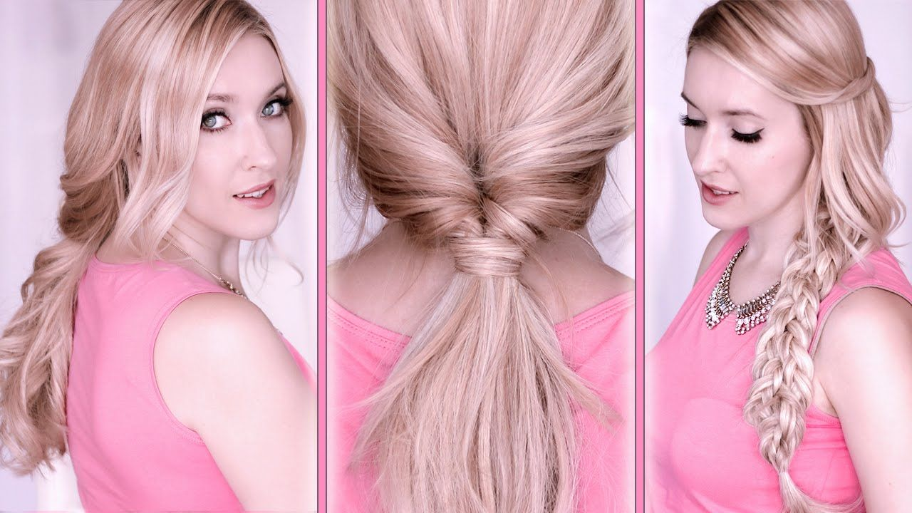 Quick and easy step by step tutorial on back to school hairstyles