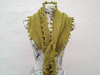 Simple, with elegant lines, and designed to make the most of a single skein of luxury yarn, this shawl can be worn in many ways. The long thin asymmetric shape is like a falling leaf twisting in the wind, so is named for Wash's famous line from Serenity.