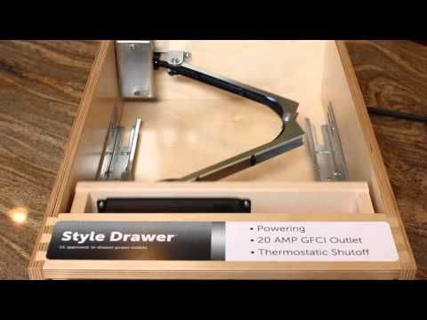 Installing Electrical Sockets In Drawer Youtube Electrical Socket Power Outlet Electricity