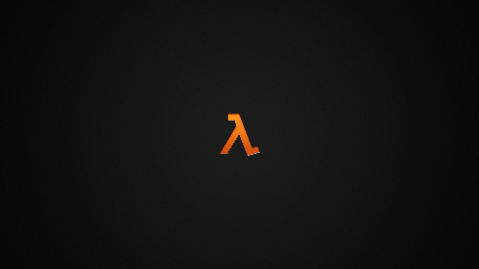 Minimalism Dark Video Games Lambda Orange Half Life Wallpaper Free Background Photos Hd Wallpaper Phone Backgrounds Tumblr
