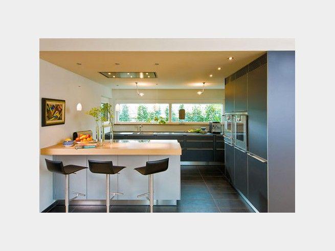 Küche bungalow jakob klassisches architektenhaus mit flachdach und balkon