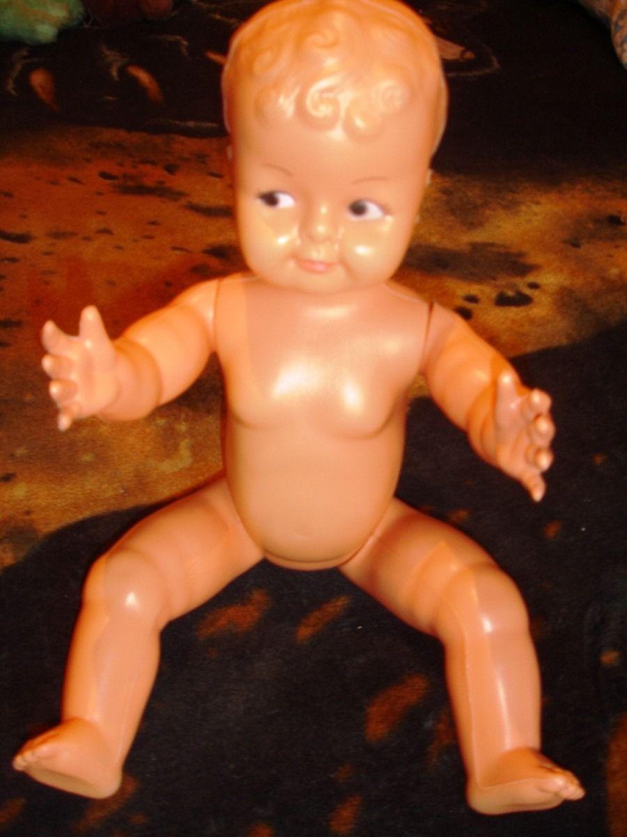 Boneca Antiga De Plástico Eu Tive Uma Lembranças Da