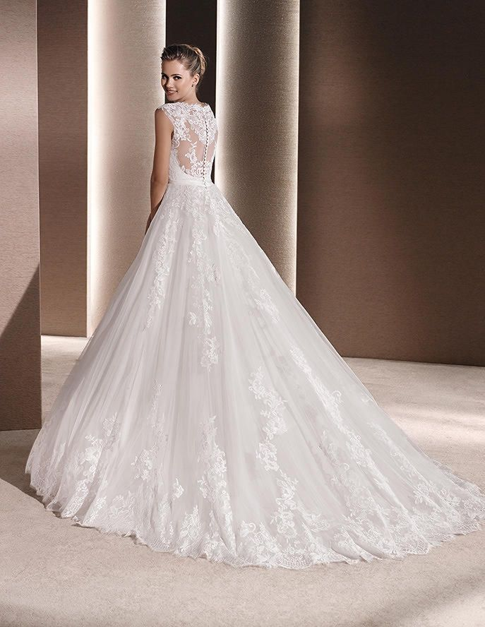 Unique Raven by La Sposa available from The Bridal Rooms