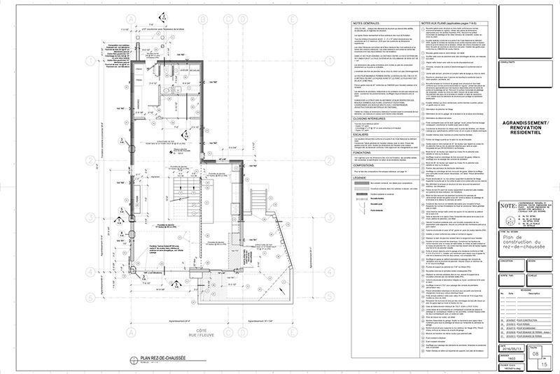 Exemple de plans pour ajout d tage et rallonge de maison for Site pour plan de maison