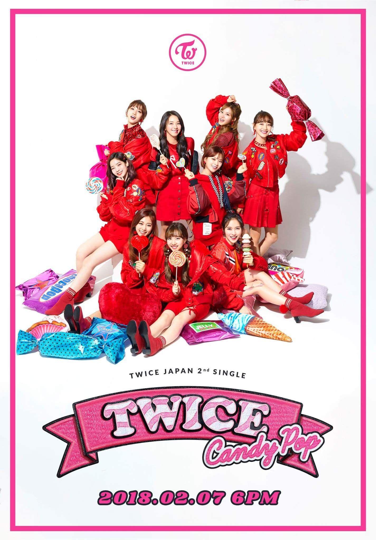 2018 年の twice japan 2nd single candy pop 2018 02 07 6pm online
