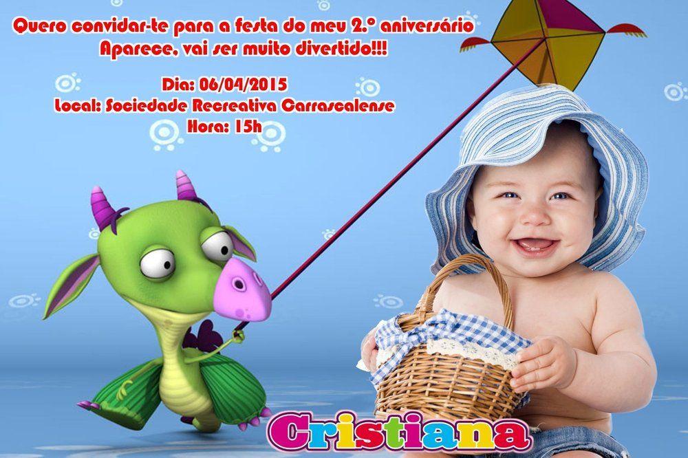 Convite digital personalizado Baby TV 013 com foto
