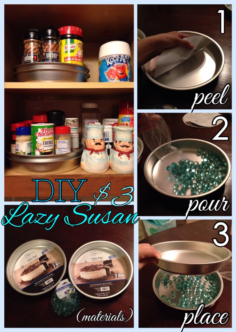 Diy Lazy Susan For Your Pantry Or Spice Cabinet I