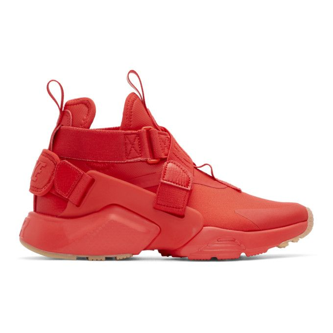 the best attitude 25356 0b51e NIKE  Red Air Huarache City Sneakers Shoes High top sneakers NIKE
