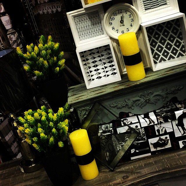 Mandarinahome #mandarina #vela #amarillo #marco #planta #estante ...