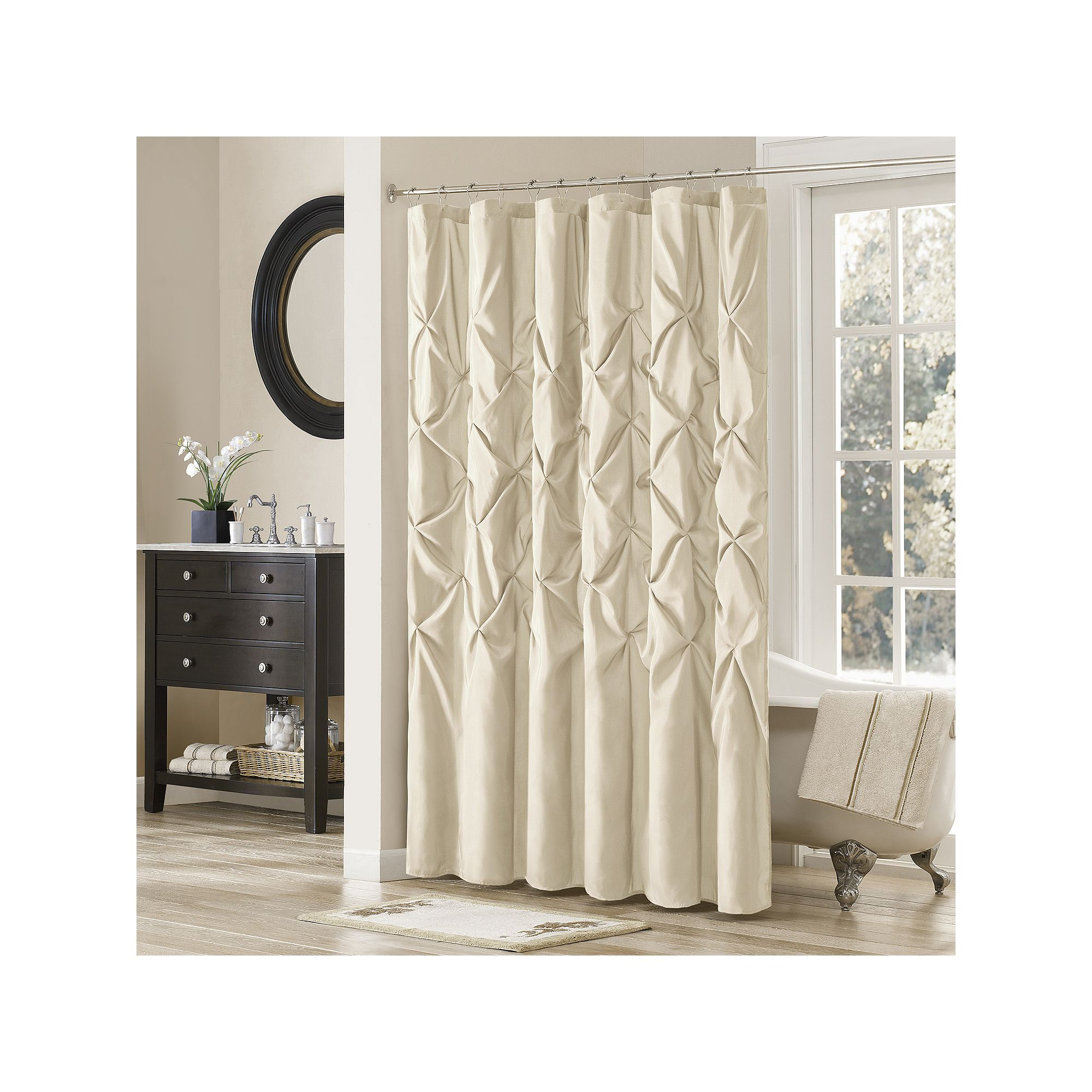 Madison park vivian tufted shower curtain grey products