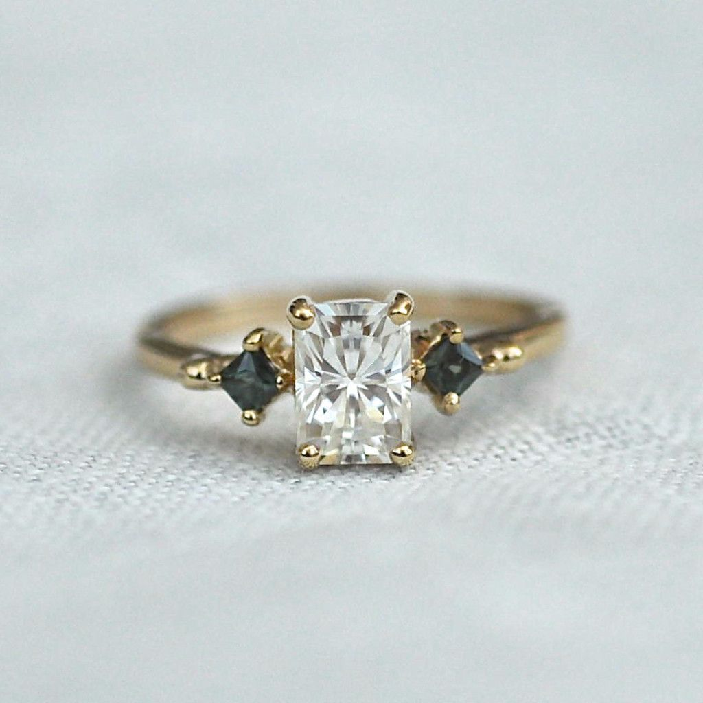 moissanite promise ring stone fb kasey and pear jewelers set box blue rosados love wedding rose engagement shaped gold sapphire