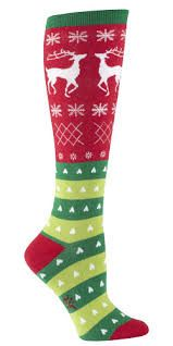 Sock It To Me - Tacky Holiday Sweater Knee Socks! Just in time for that party!! https://www.facebook.com/giftswithaheartraleigh