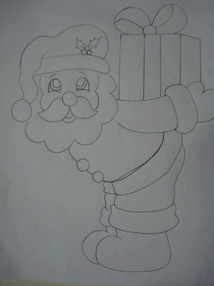 Papai Noel   creaciones   Pinterest   Malvorlagen weihnachten ...