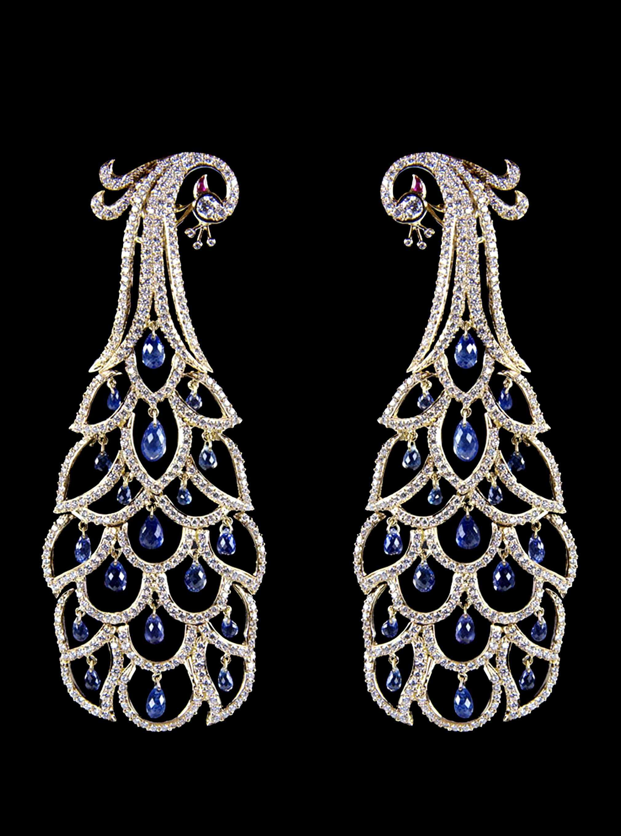 diamonds hanging with sapphire earrings cut brilliant cts pin briolette amethysts