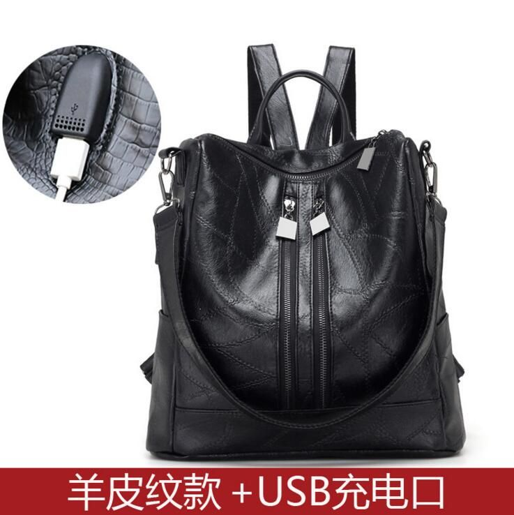 c558600b0e06 X-Online 042017 hot new lady fashion leather backpack female travel ...