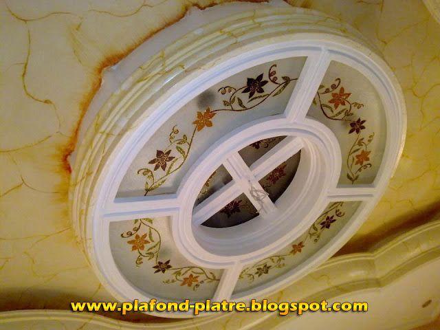 Faux Plafond exceptionnelle Décoration verre et plâtre 2013