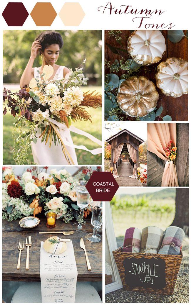Autumn Wedding Color Inspiration Coastal Bride October Wedding Colors Wedding Color Inspiration Wedding Theme Colors