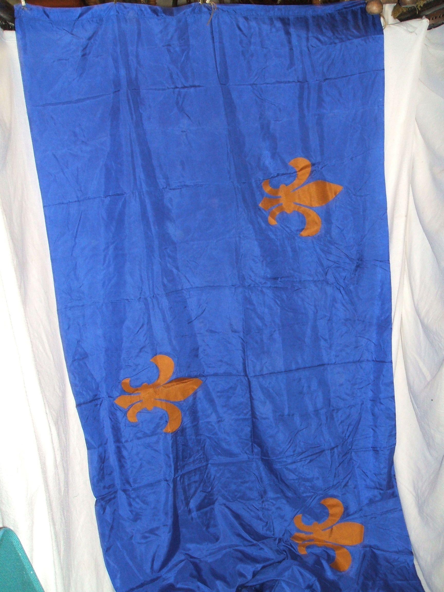 Blue Fleurdelis Tapestry, Flag, Banner