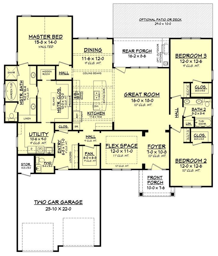 Tiny Home Designs: This Craftsman Style House Plan Has An Amazing Floor Plan