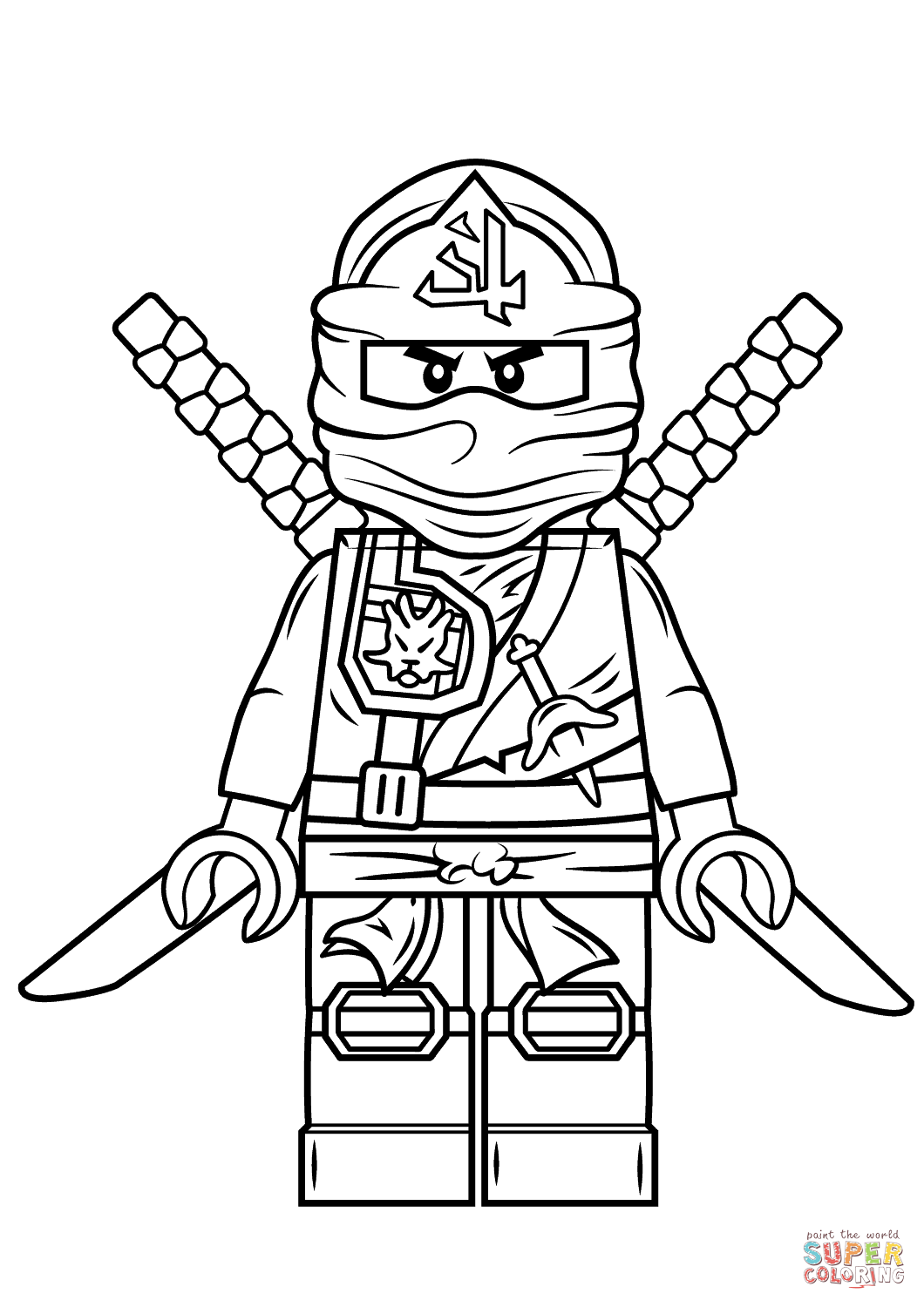 Lego Ninjago Green Ninja | Super Coloring | freemotion embroidery ...