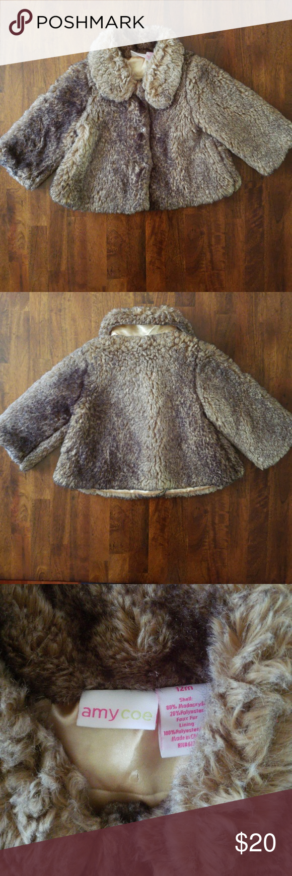 36d5a83af Toddler Girl Faux Fur Jacket