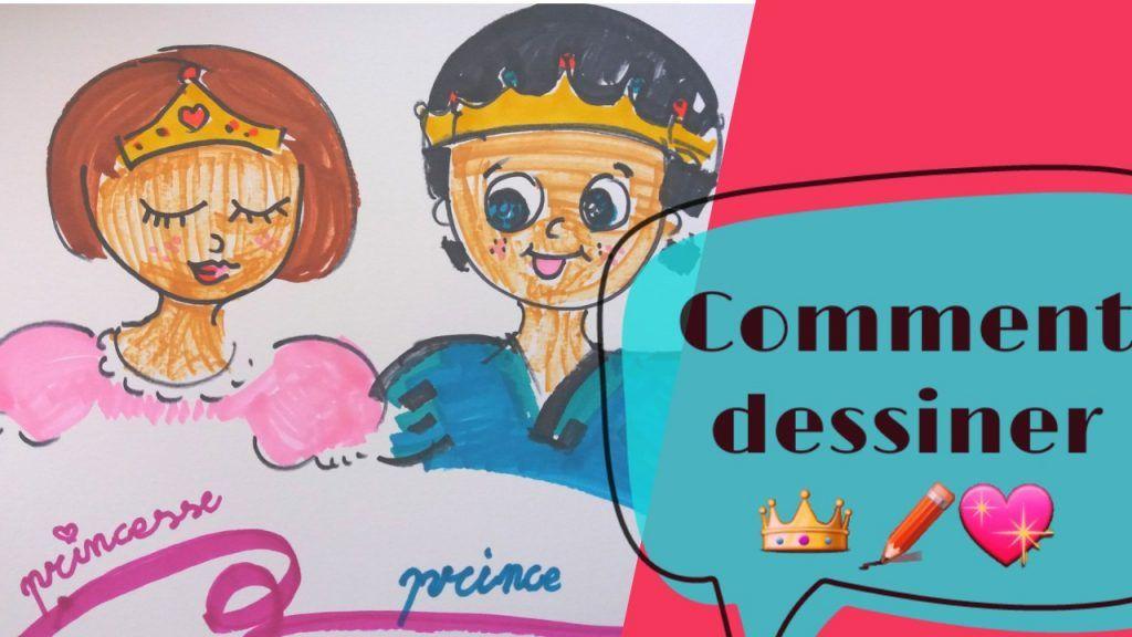 Comment Dessiner Un Prince Et Une Princesse Enfants In 2019