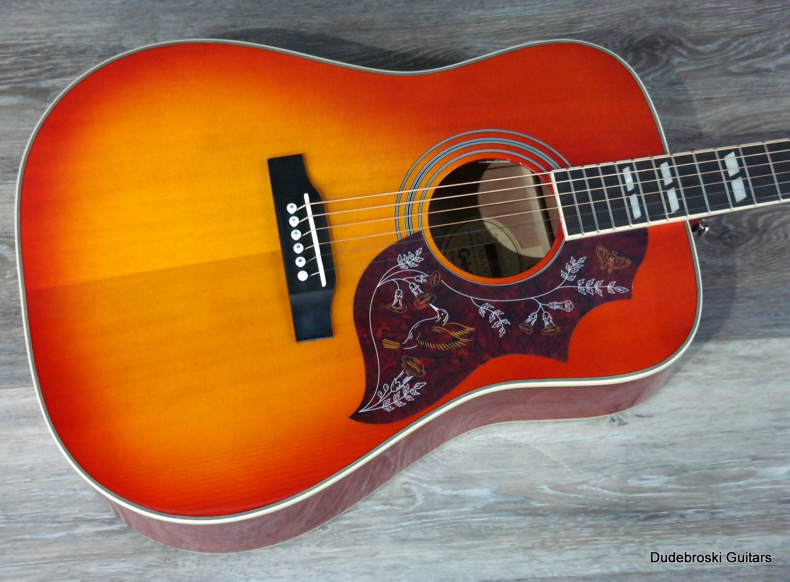 Epiphone hummingbird pro acousticelectric shadow