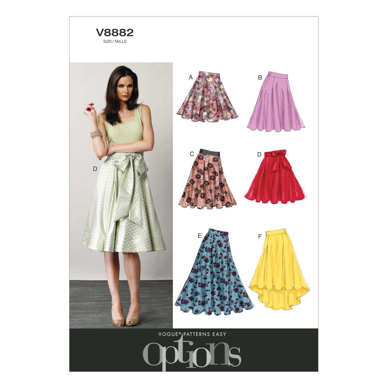 Vogue Patterns Misses Skirt - V8882