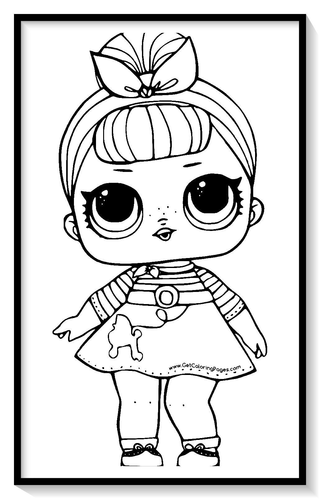 muñecas LOL para colorear online 💥💥 dibujar y pintar ...