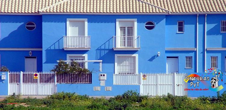 Fachada azul turquesa