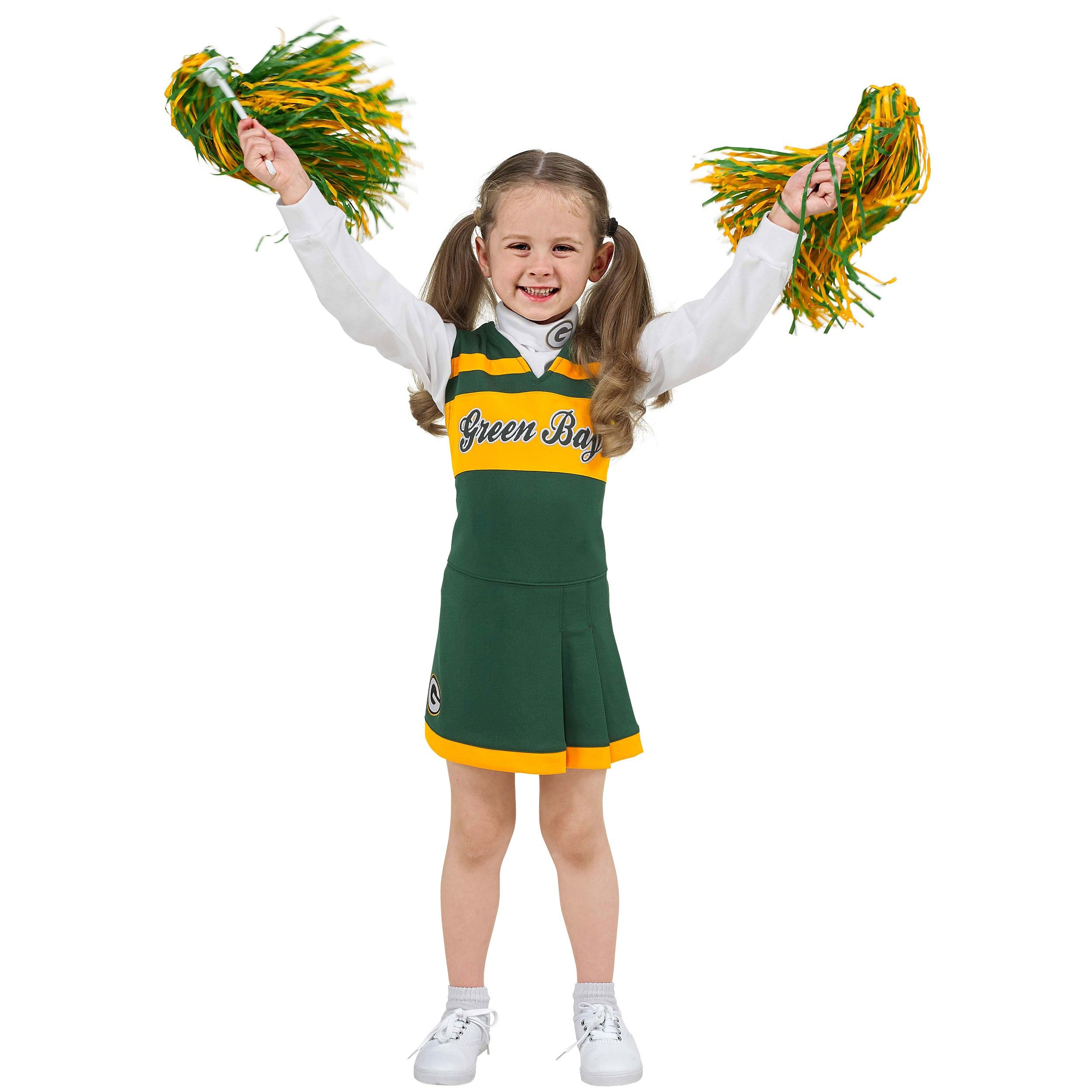 Green Bay Packers Green Bay Packers Toddler Cheerleader Dress Toddler 2t 4t Kids Green Bay Packers Packers Pro Shop Green Bay Packers Girl