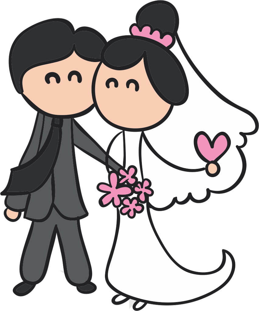 Desenho de noivinhos para convite | Bendito Papel | tags ...