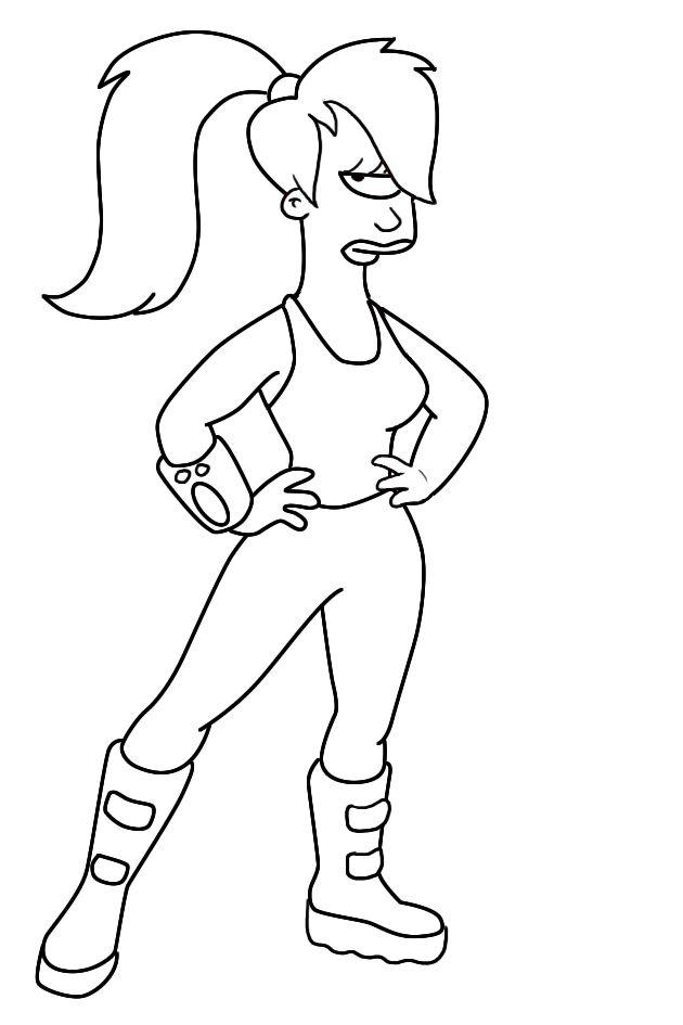 Dibujo de Leela, Futurama | Dibujos para colorear | Pinterest | Drawings