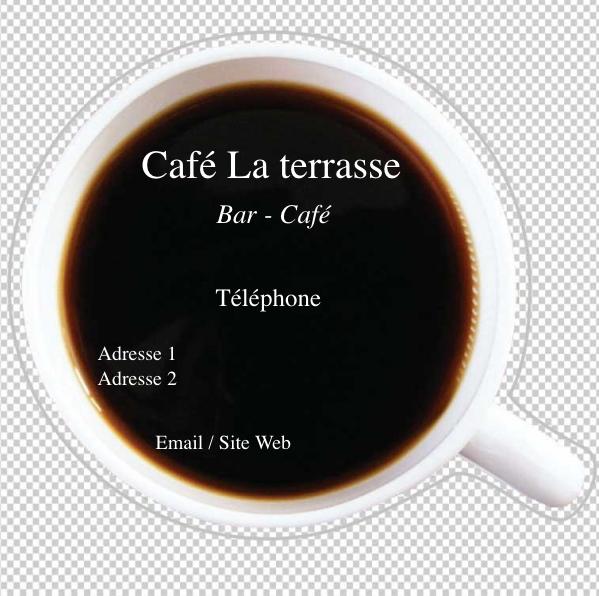 Caf Bistrot Carte De Visite Modle Personnaliser En Ligne Avec Forme