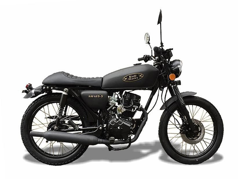 wk rt 125 cafe 125cc retro motorcycle motorbikes and scooters. Black Bedroom Furniture Sets. Home Design Ideas