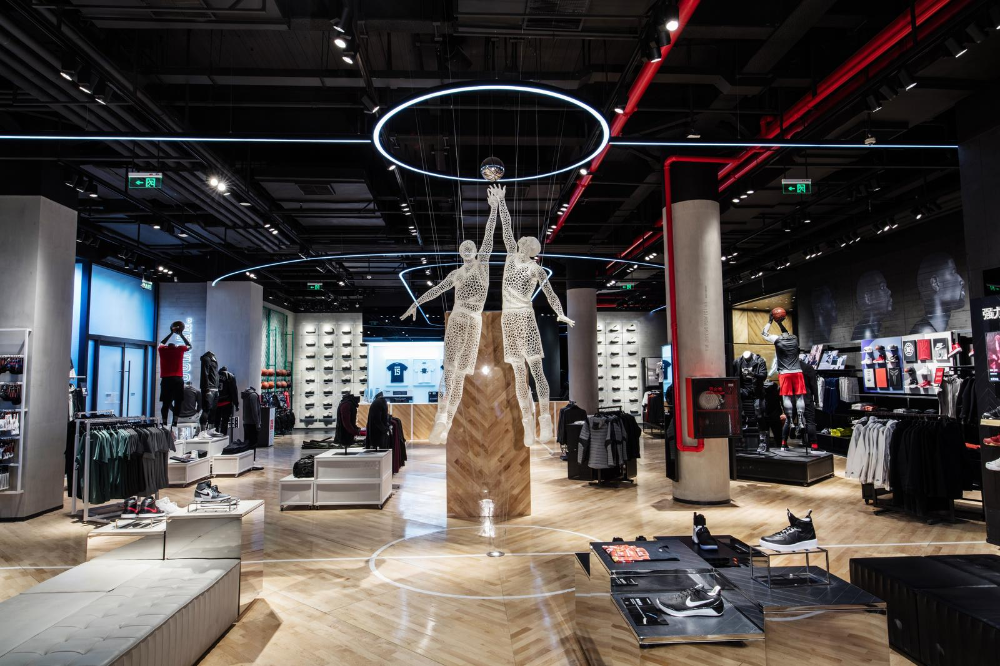 Incompetencia Escuela primaria chasquido  New Nike Stores in Miami and Beijing - Noa Brands in 2020 | Nike retail,  Basketball store, Retail experience