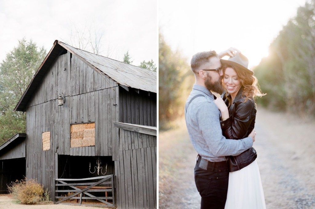 Edgy bohemian vow renewal in the woods green wedding