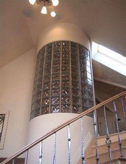 Glass Block Stairwell Wall Glass Block Stairwell Wall Glass Block