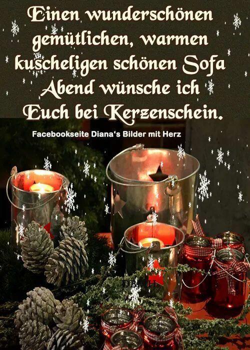 Pin von Siegrid Thon auf Weihnachten | Pinterest | Nacht grüße, Gute ...