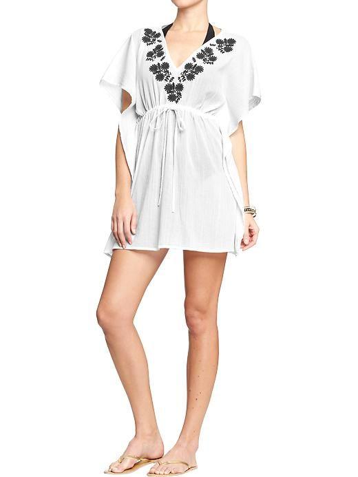 5e1c4b6eab8b3 Old Navy Womens Embroidered Gauze Swim Cover Ups – Bright white