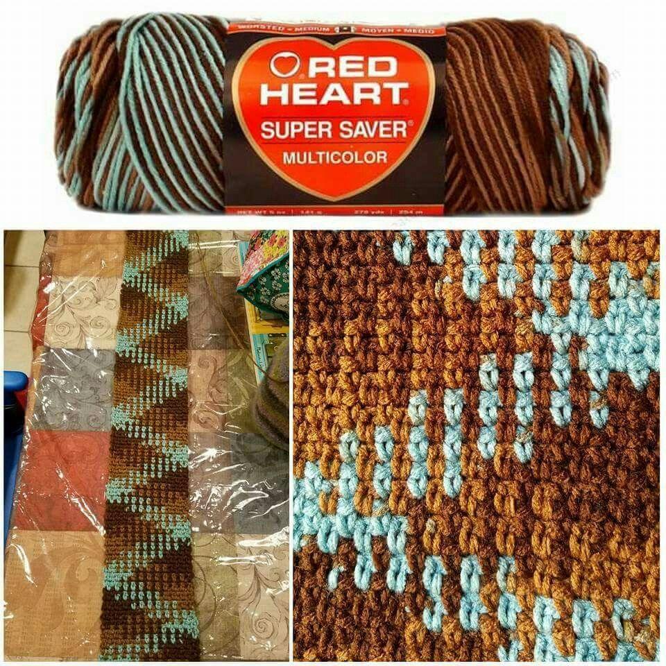 Moss stitch + variegated yarn | knit & crochet | Pinterest | Moss ...