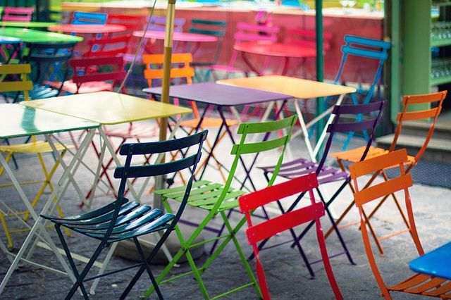 Sedie Colorate Da Giardino.Mobilier Couleurs Giardini Sedie Da Giardino Arredamento Da