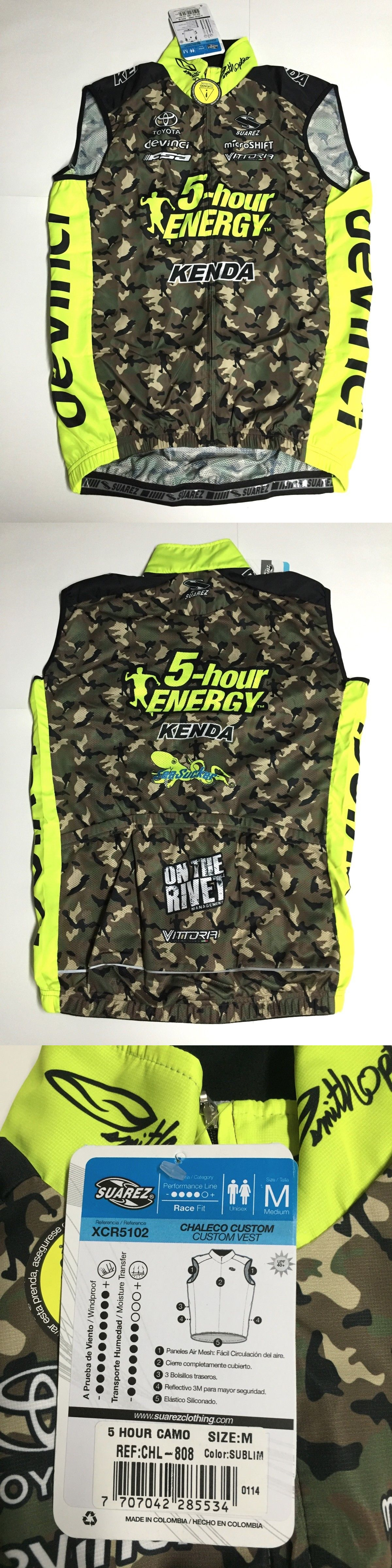 Vests 177856: Suarez Size Medium Wind Light Weight Cycling Vest Full Zip - New - 5-Hour Camo -> BUY IT NOW ONLY: $34.99 on eBay!
