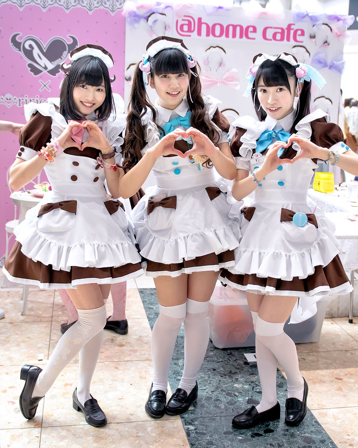 Maids From The Famous Akihabara Maid Cafe Home Cafe At Design Festa In Tokyo Maid Costume Maid Cosplay Maid Outfit