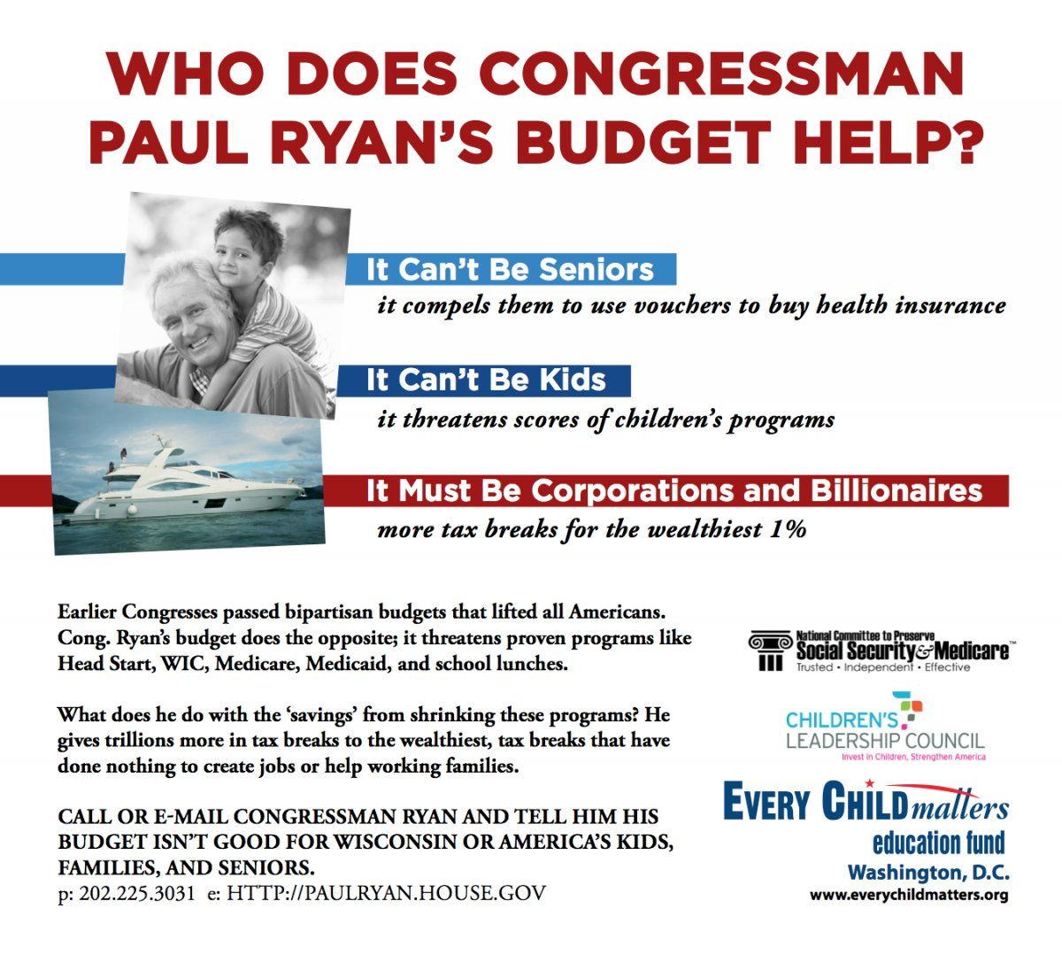 The Paul Ryan Budget Doesn T Help Seniors Or Kids Only The 1