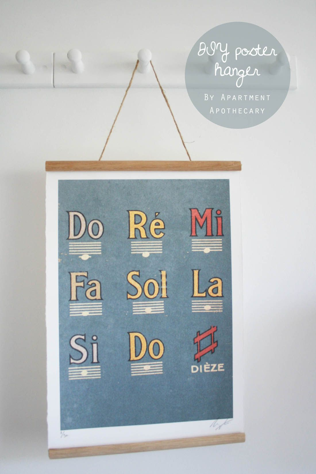 How to make  diy poster hanger cheap and easy ways hang art vintage style school wall chart apartment apothecary also rh pinterest