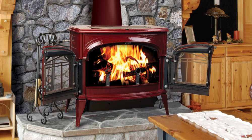 Encore Two In One Wood Burning Stoves By Vermont Castings Can Burn With Catalytic Converter Or Without